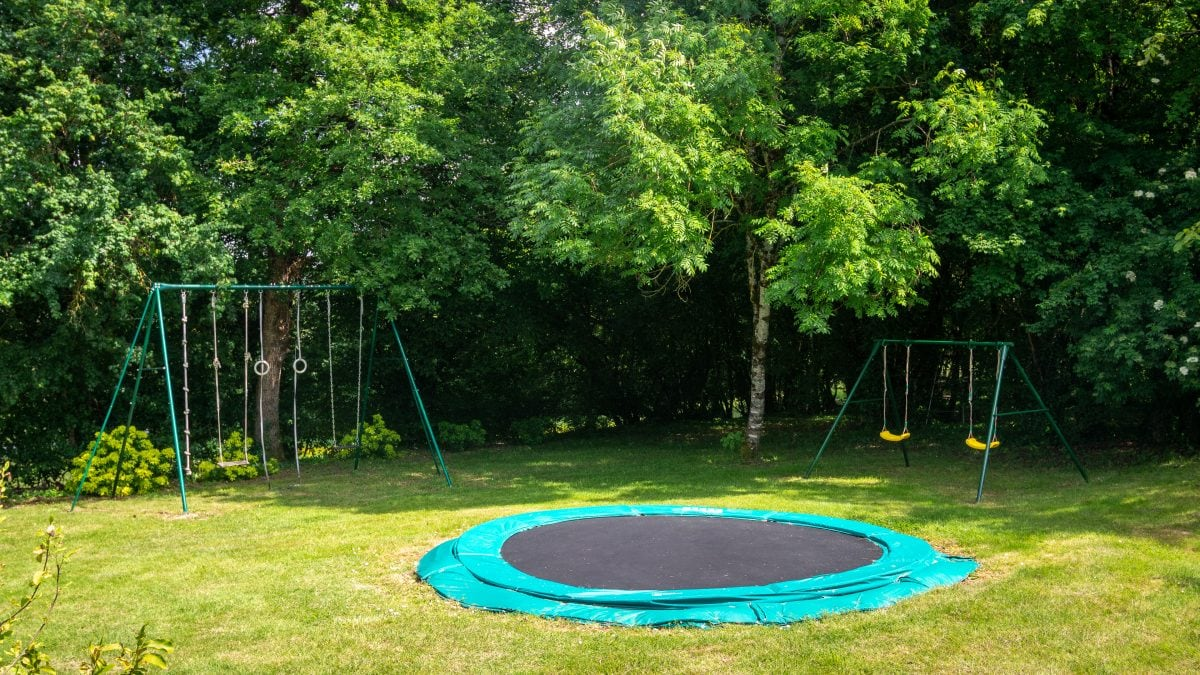 Children's Play Area and Woodland - La Borie Gites Holiday Accommodation Dordogne Lot France