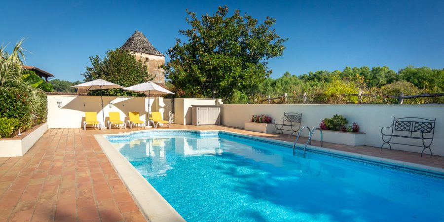La Borie Gites Dordogne Lot France - Heated Swimming Pool